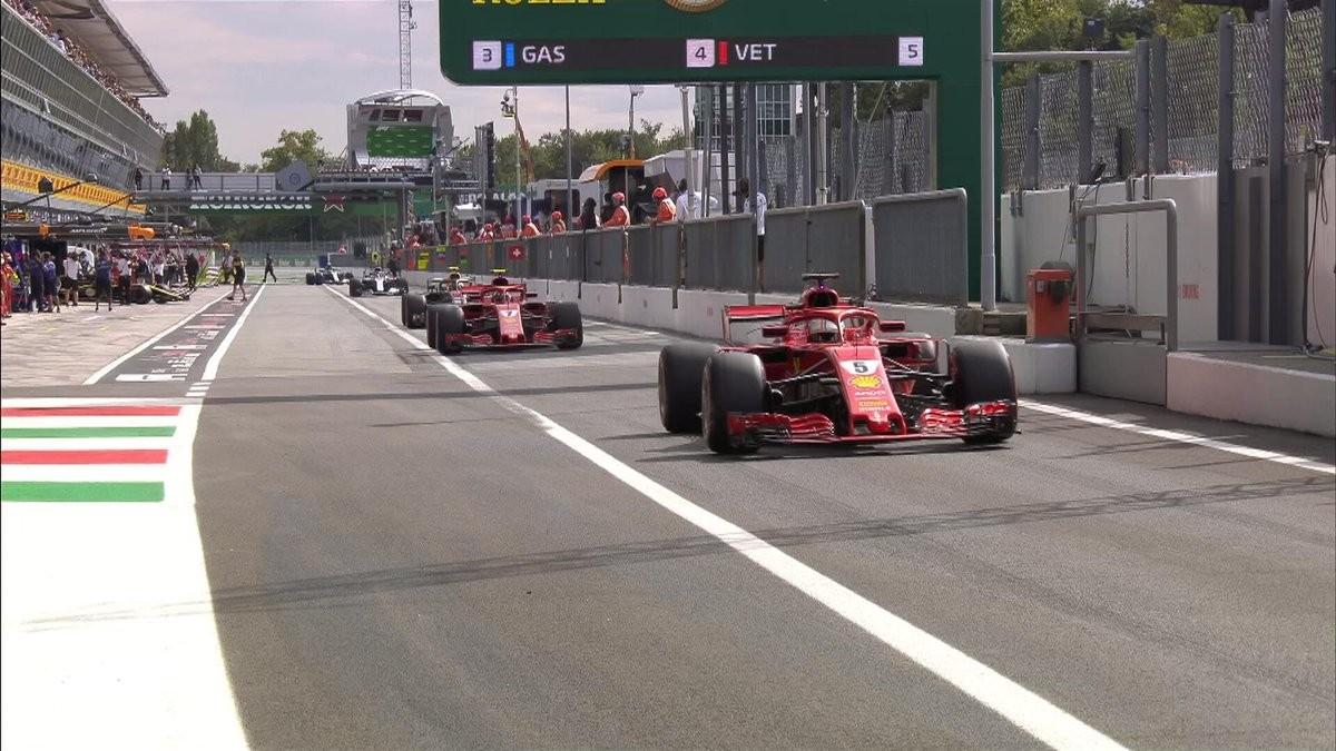 Qualifiche formula 1 - Raikkonen si prende la pole a Monza, secondo Vettel. Seconda fila per le Mercedes