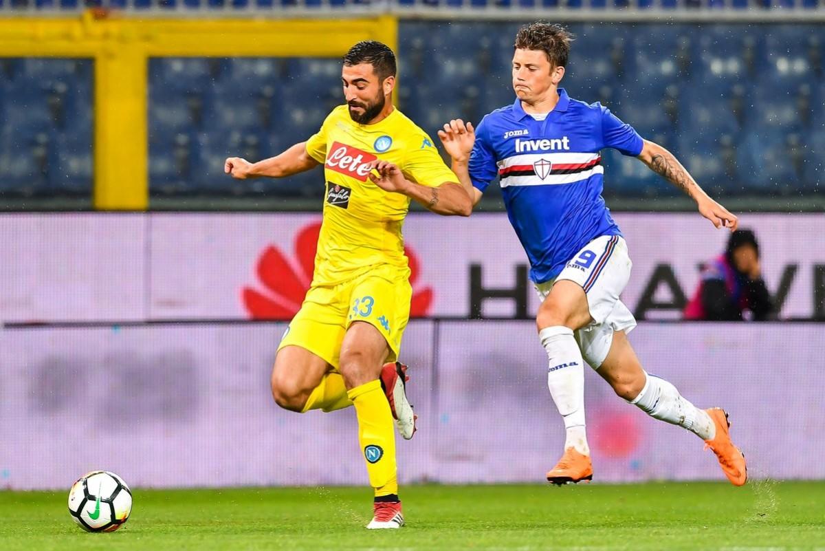 Il Napoli frana a Genova: Defrel e Quagliarella fanno volare la Sampdoria (3-0)
