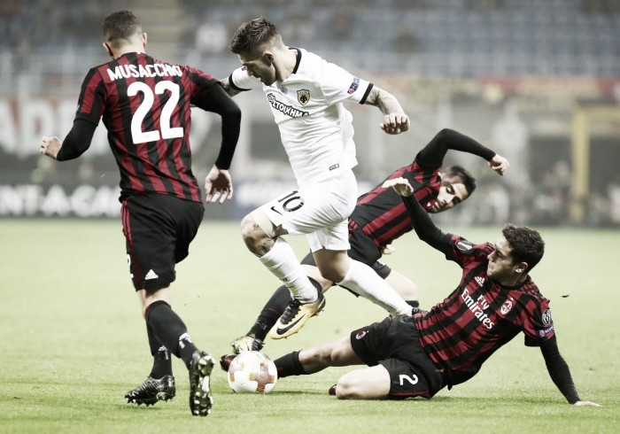 Europa League: reti bianche a San Siro, il Milan sbatte contro il muro greco dell'AEK (0-0)