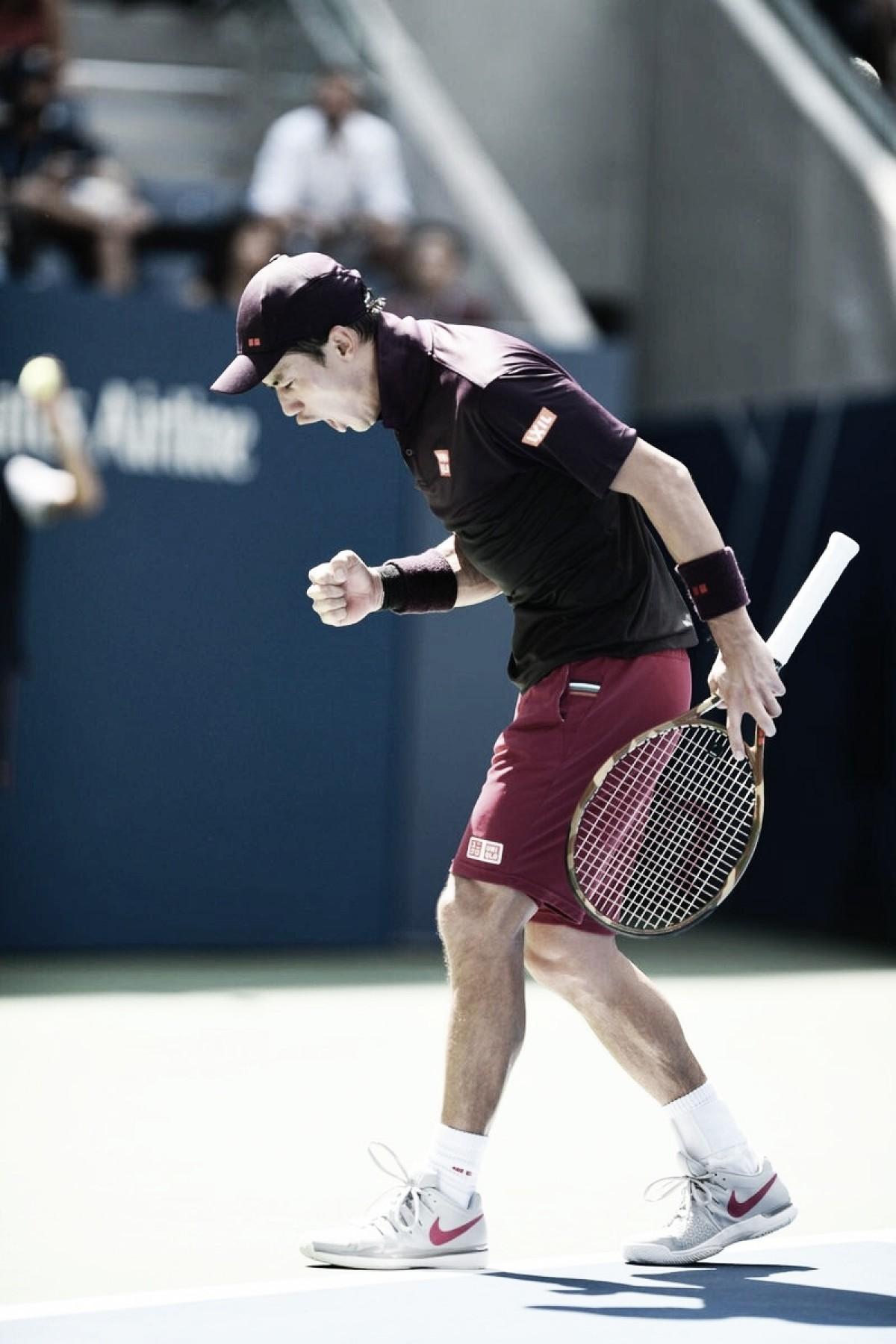 US Open: le costó cerrarlo, pero Nishikori se metió en en los cuartos de final