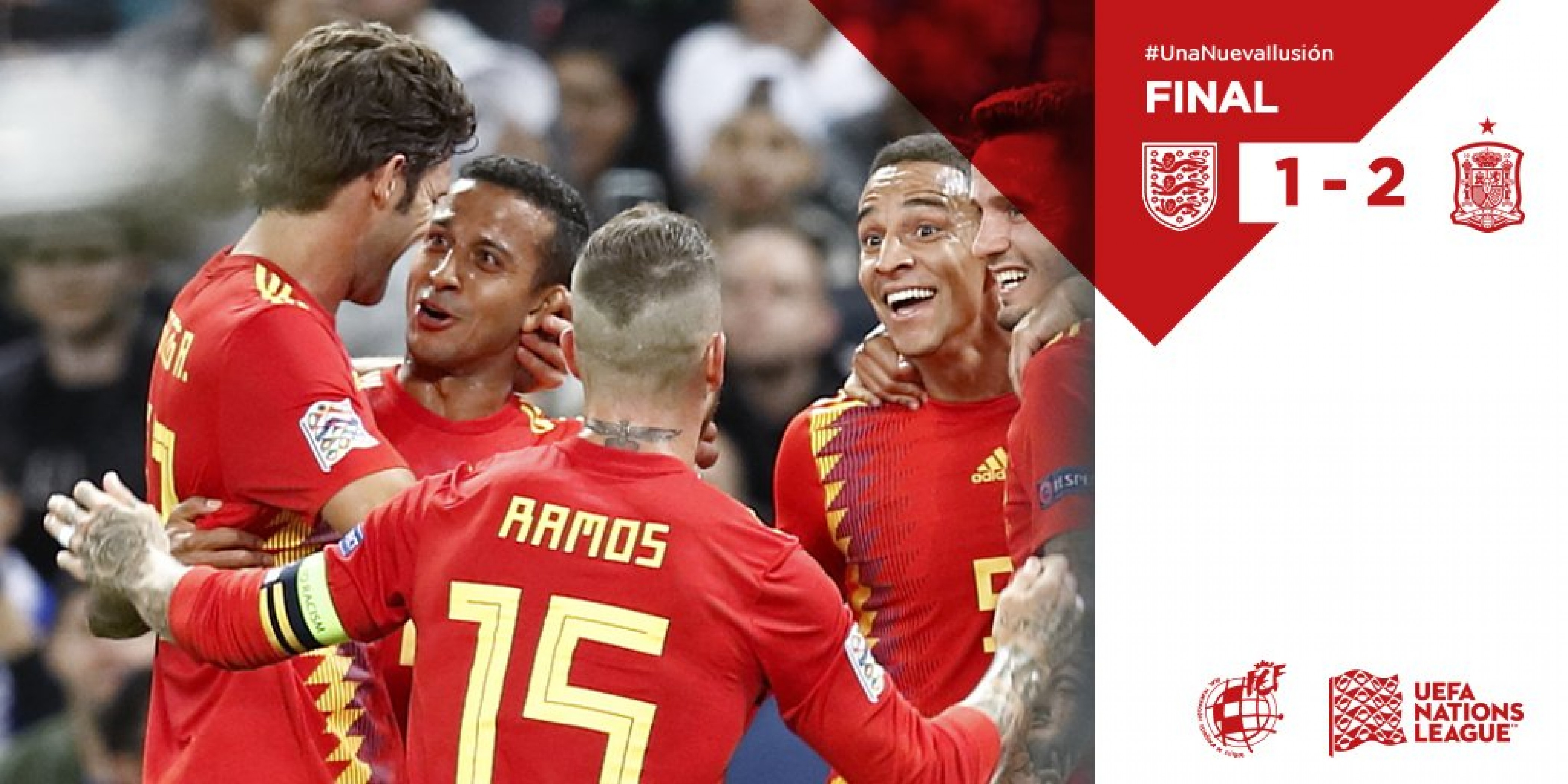 Nations League - La Spagna espugna Wembley: battuta l'Inghilterra 1-2