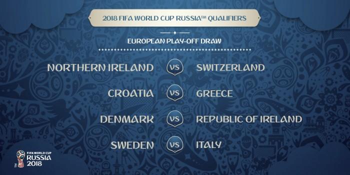 Playoff Russia 2018, l'Italia pesca la Svezia