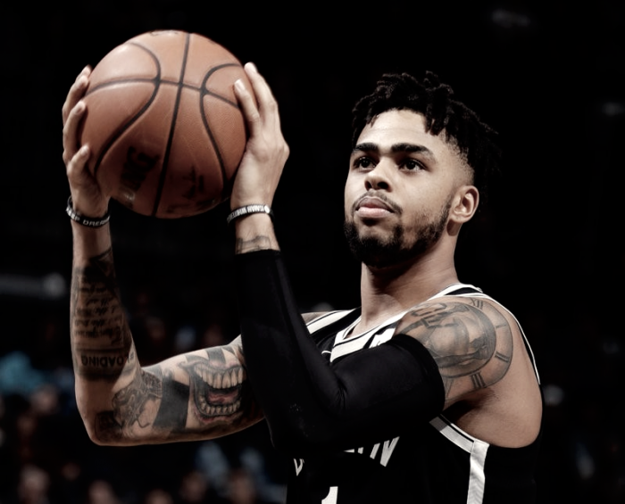 Com duplo-duplo de D'Angelo Russell, Nets batem Hawks em jogo eletrizante