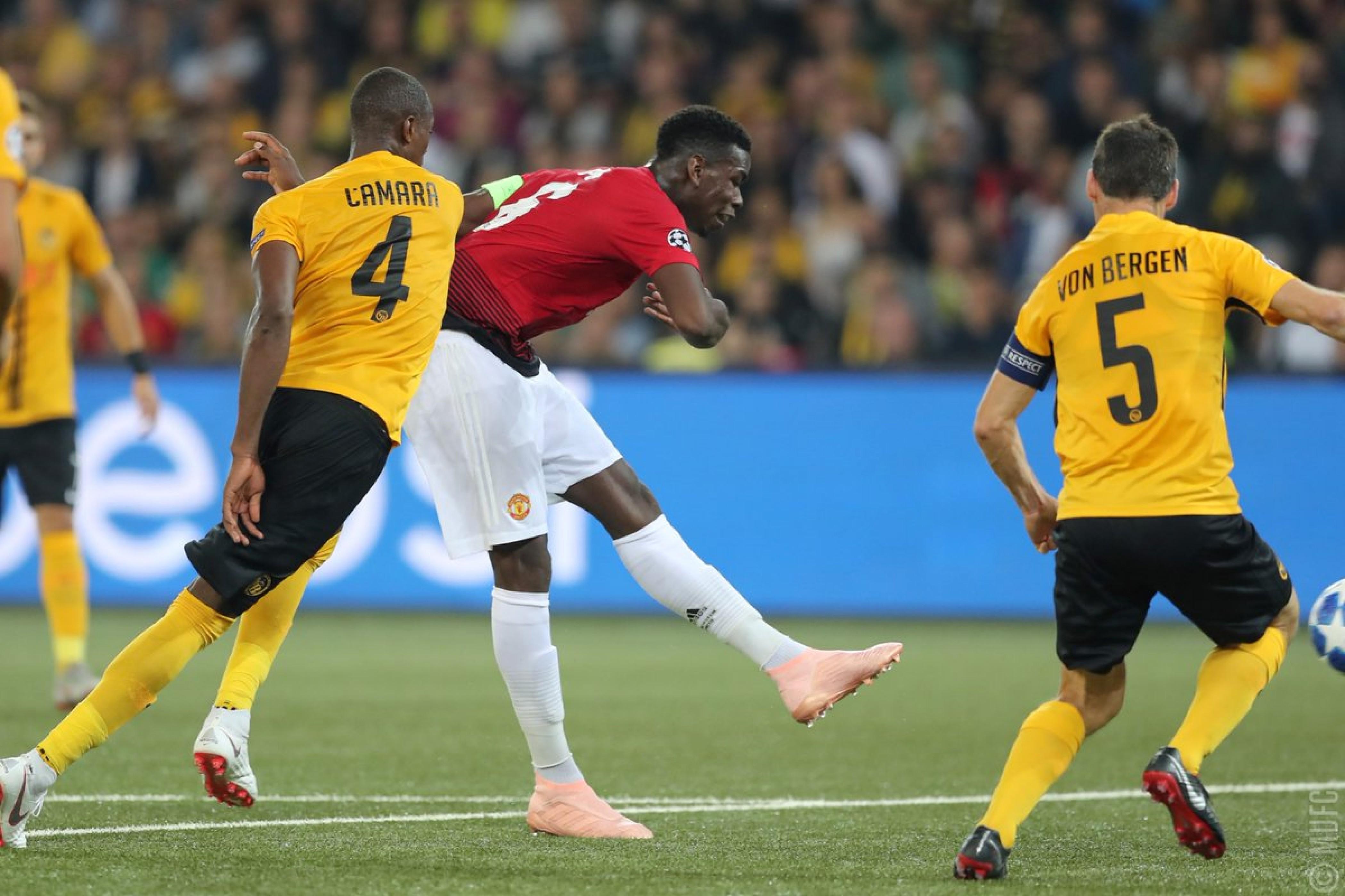 Champions League - tris United: doppio Pogba e Martial mettono KO l'arcigno Young Boys