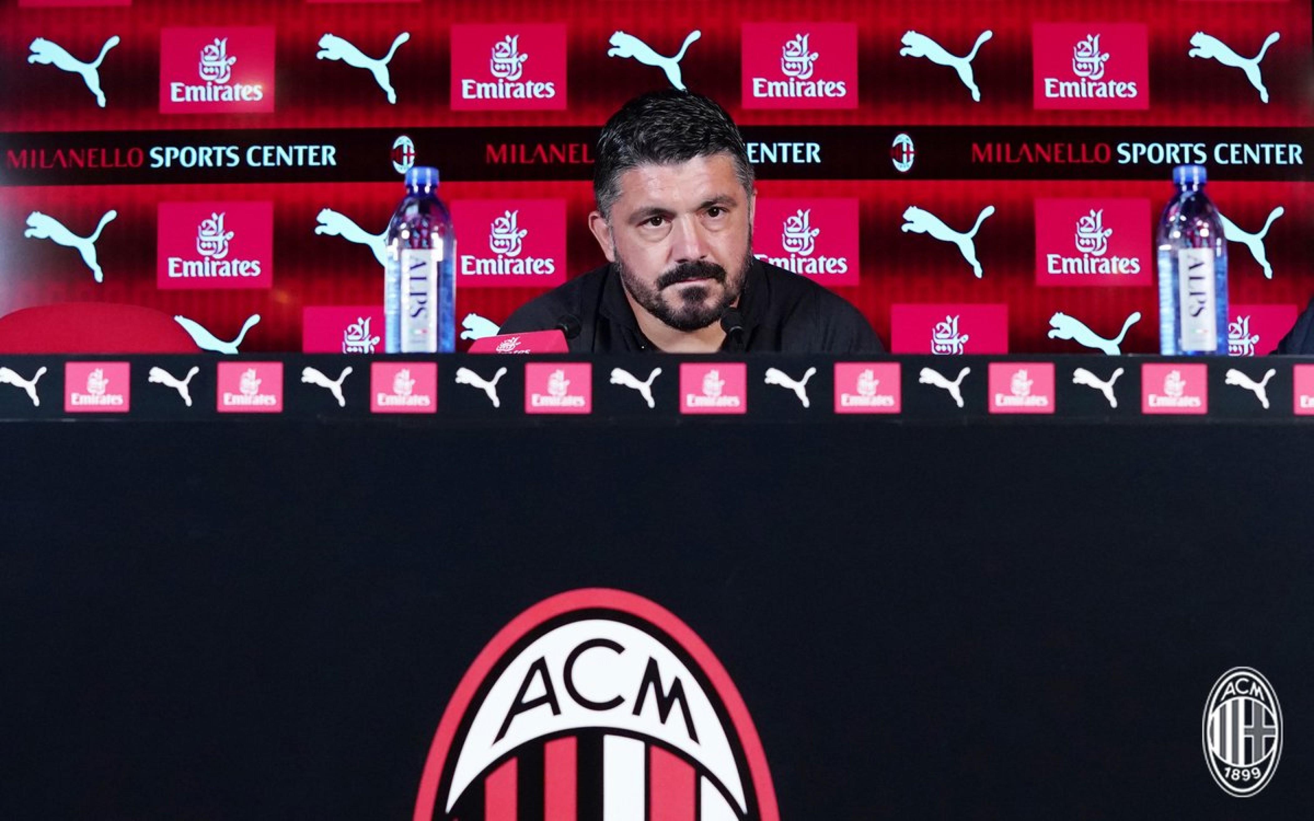 Milan, la conferenza di Gattuso in vista della parita contro il Cagliari