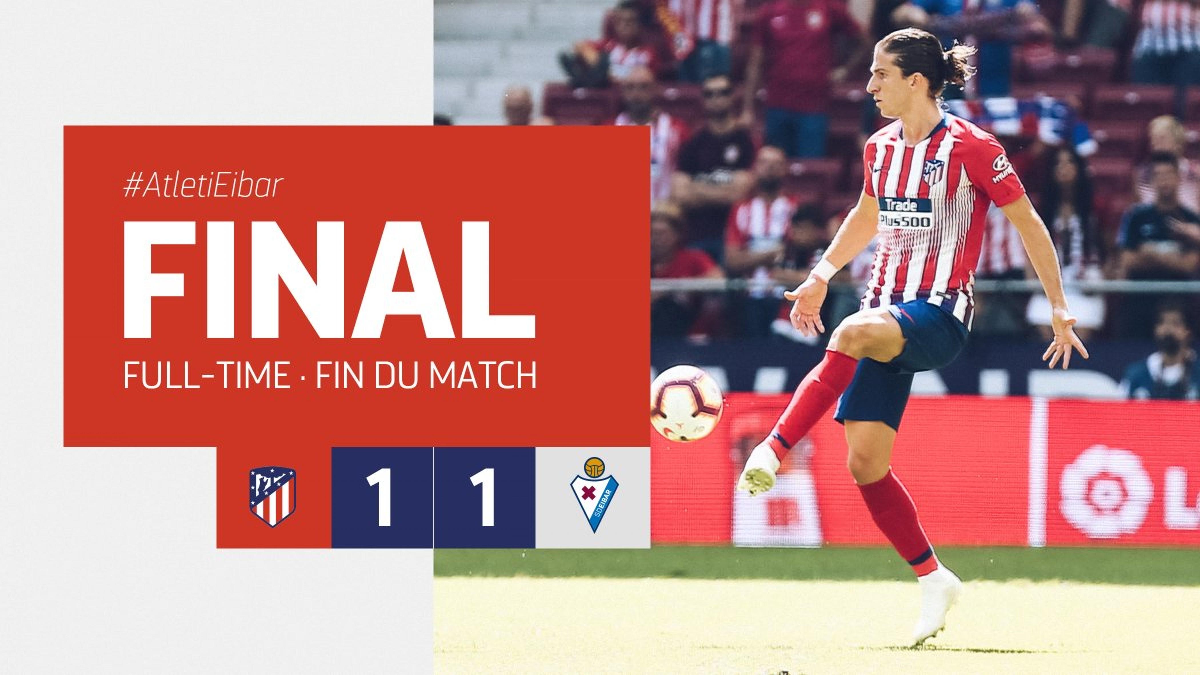 """Liga- L'Atletico si salva al 93' grazie al """"canterano"""" Moreno: contro l'Eibar finisce 1-1"""