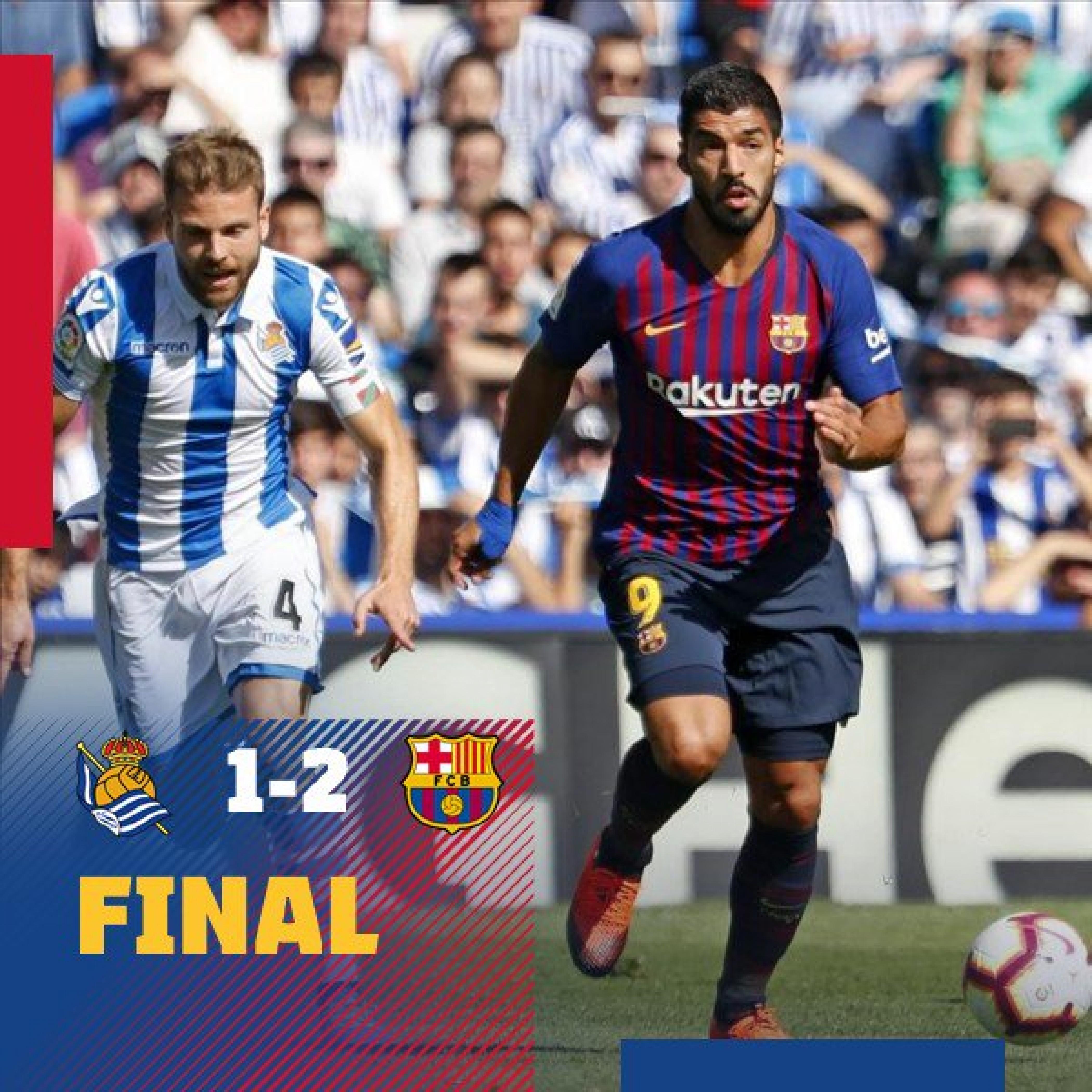 Liga- Il Barcellona soffre, ma vince 2-1 sul campo della Sociedad