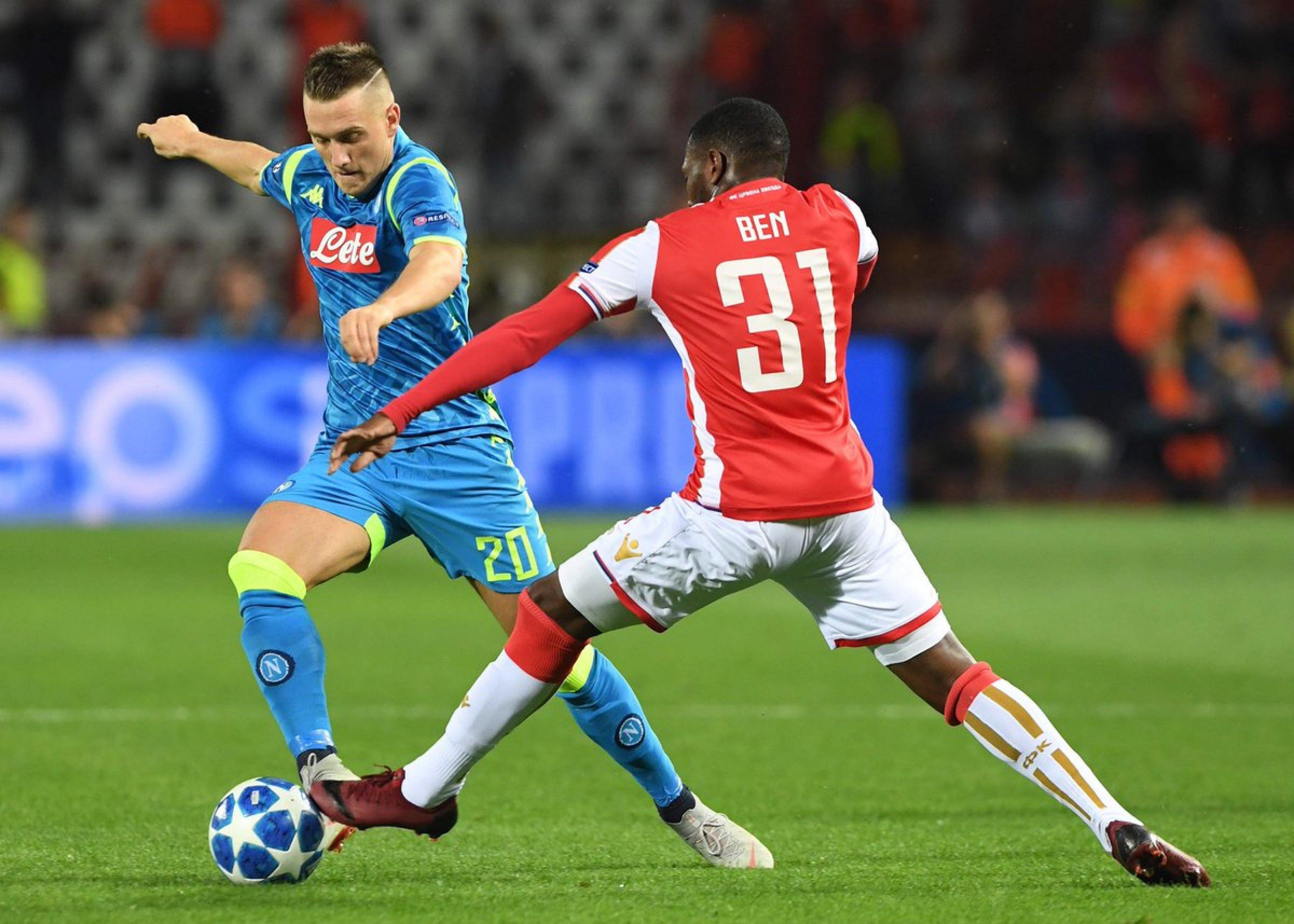 Champions League - Il Napoli sbatte contro la Stella Rossa: 0-0 al Marakana
