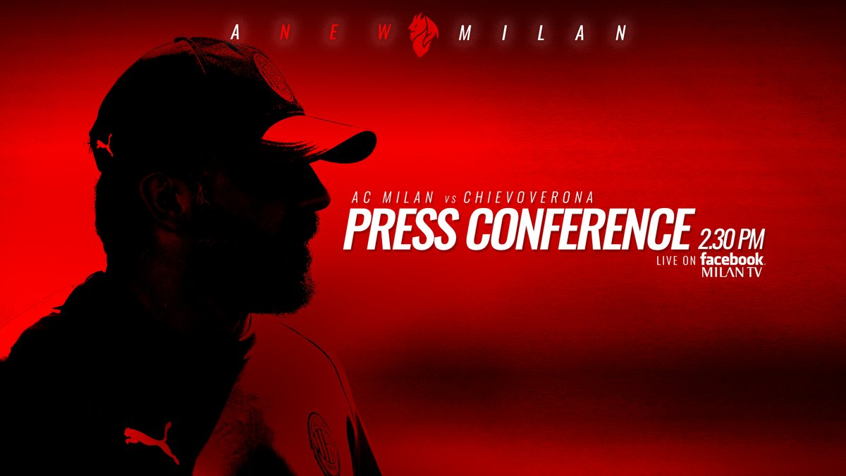 Milan - Chievo, Gattuso in conferenza stampa