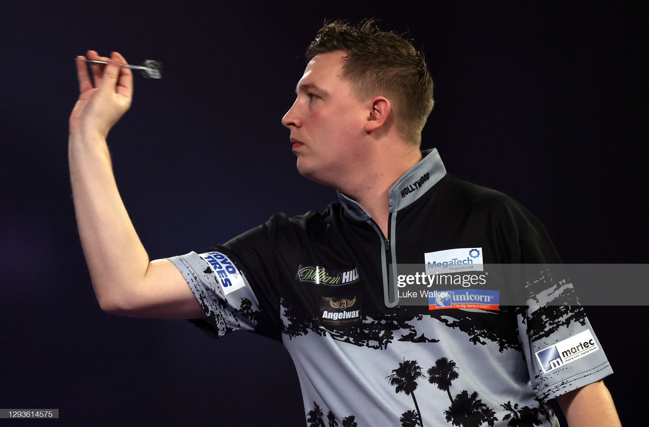 Dobey Delighted After Victory Over Van Den Bergh at 2021 Darts Masters