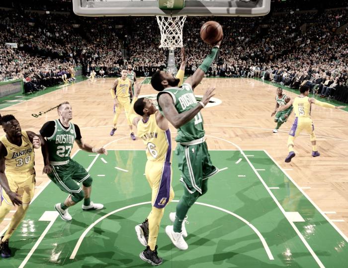 Celtics vencem Lakers e conquistam décima vitória seguida na temporada