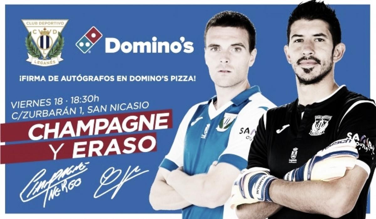 Eraso y Champagne firmarán autógrafos en el Domino's Pizza
