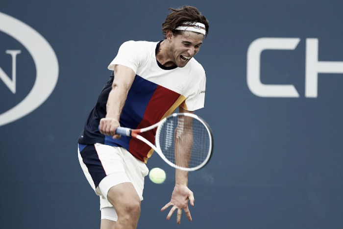 US Open: Dominic Thiem overcomes slow start to progress into the second week
