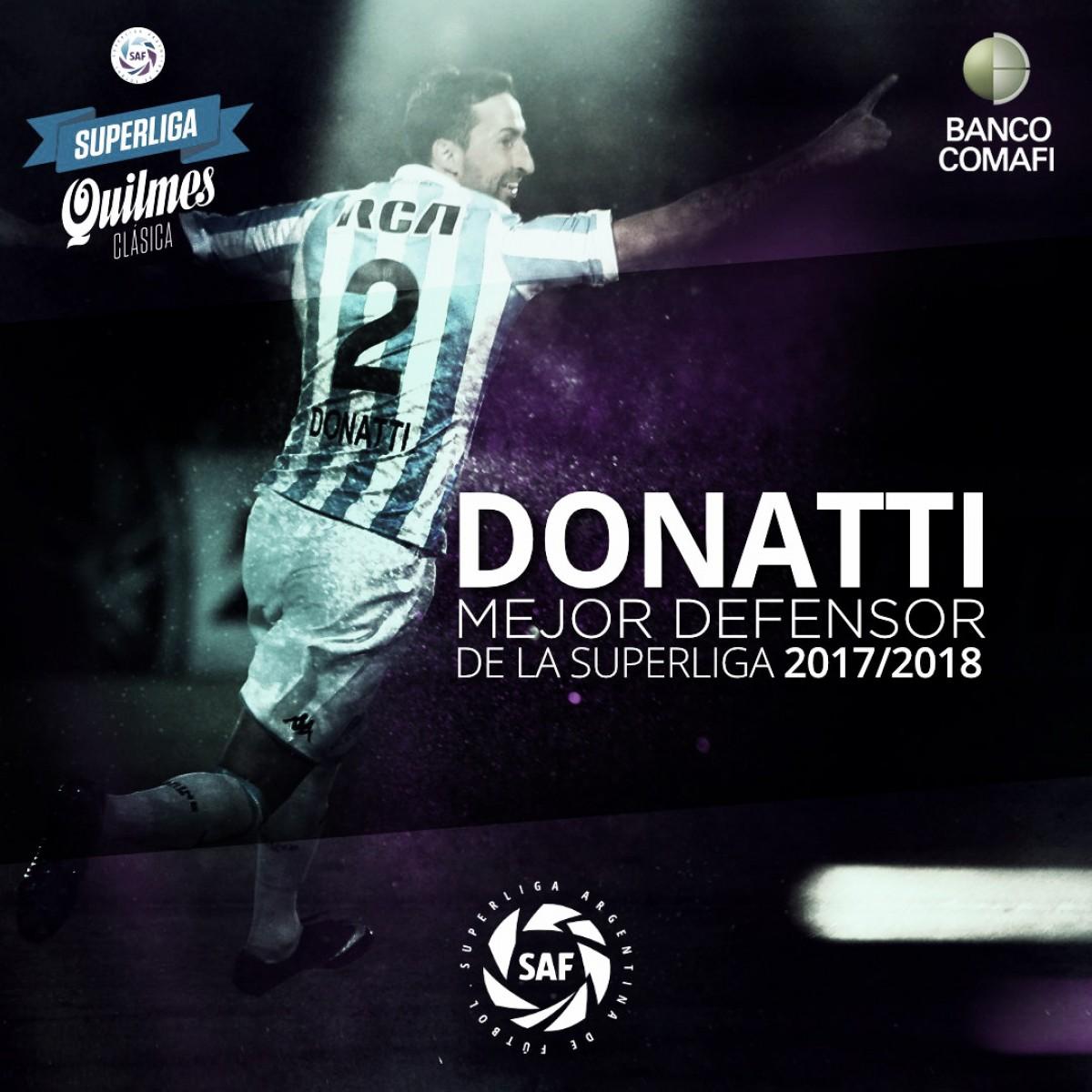 Ex-Flamengo, Donatti é eleito melhor defensor da Superliga Argentina 2017-18 pelo Racing