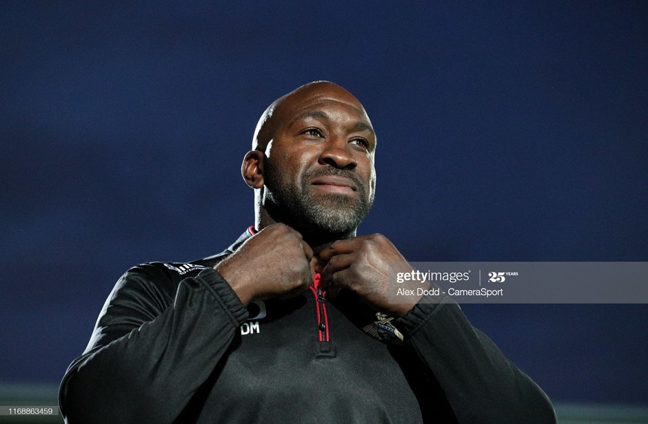 Darren Moore and his Doncaster Rovers team face Blackpool on Tuesday night. Photo: Alex Dodd/CameraSport/Getty Images.