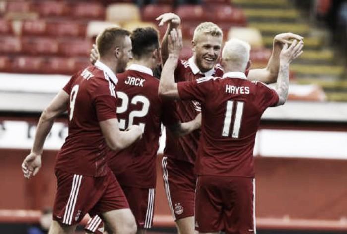 Aberdeen domina, vence Ventspils e abre boa vantagem na UEL