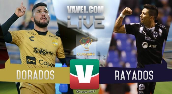 Resultado y goles del Dorados 0-5 Rayados de Monterrey de la Copa MX 2017
