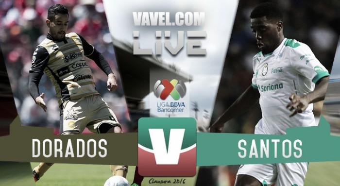 Resultado Dorados - Santos en Liga MX 2016 (3-1)