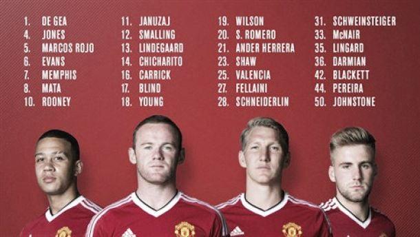El Manchester United presenta los dorsales para la nueva temporada
