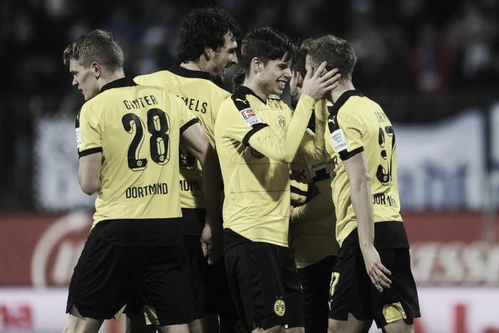 SV Darmstadt 98 0-2 Borussia Dortmund: Ramos and Durm net as Tuchel's men close the gap on Bayern