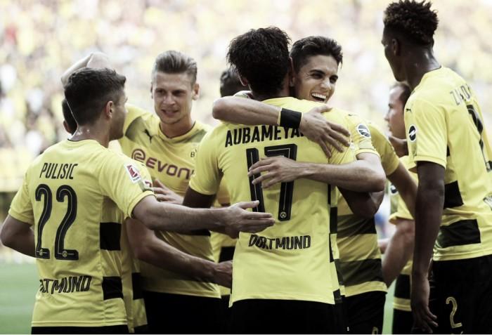 Bundesliga - Il Dortmund vince ancora, 2-0 sull'Hertha e punteggio pieno