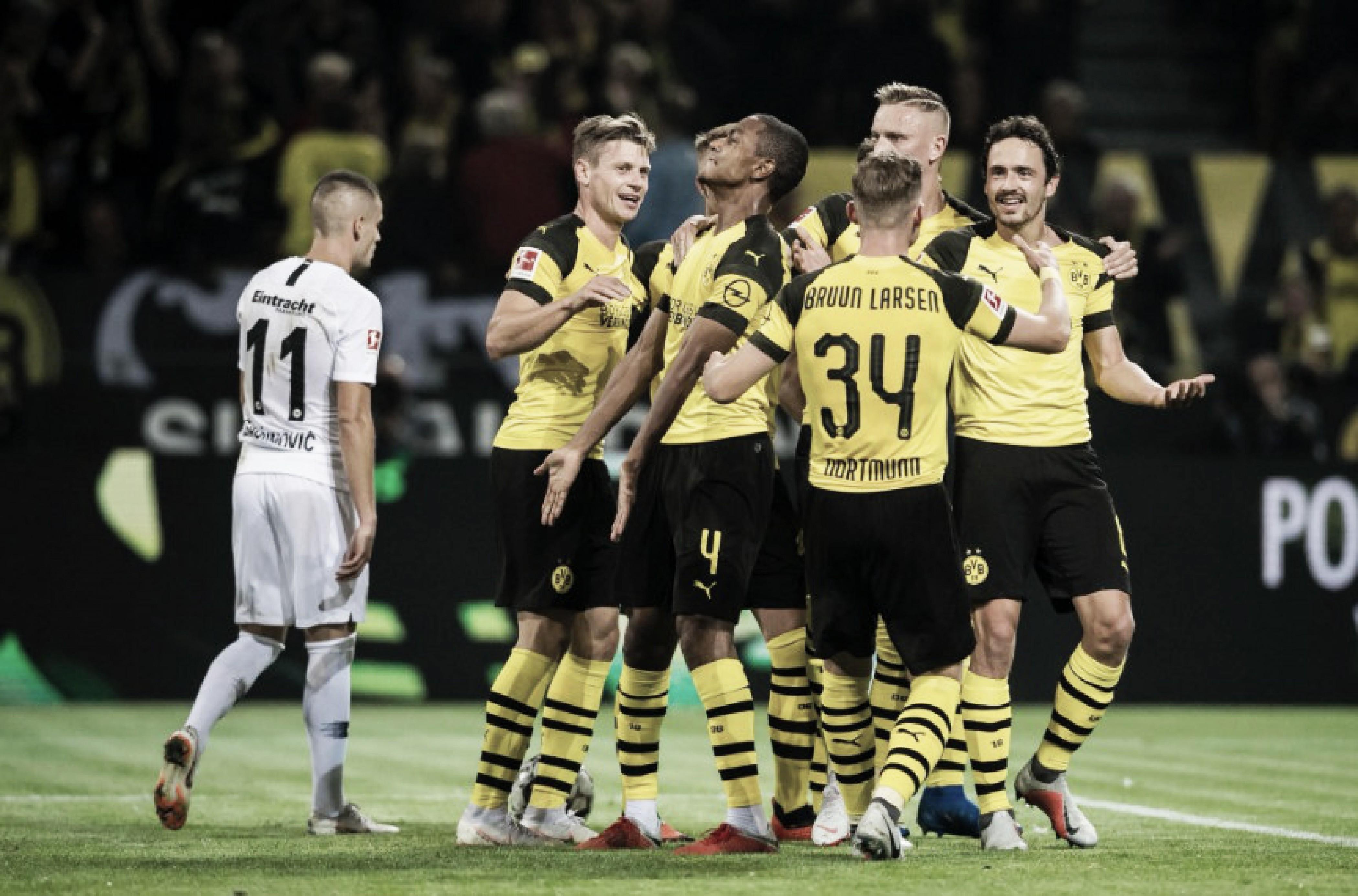 Borussia Dortmund vence Eintracht Frankfurt em casa e assume ponta da Bundesliga