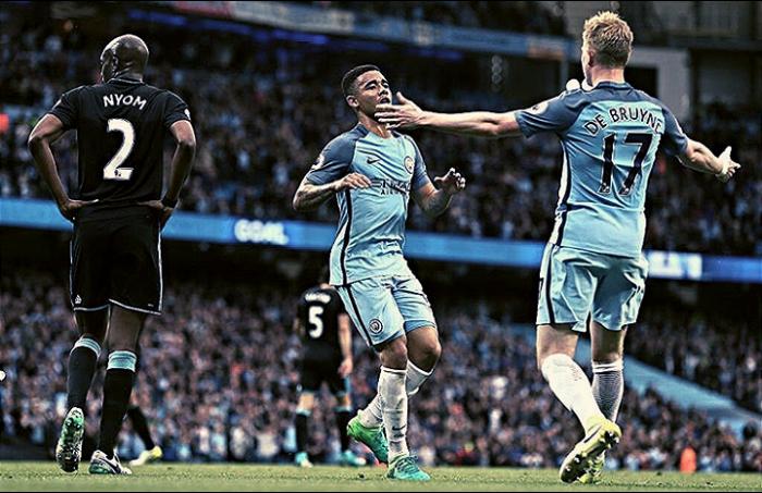 Premier League - Il Manchester City batte il West Bromwich e sale al terzo posto: 3-1 all'Etihad
