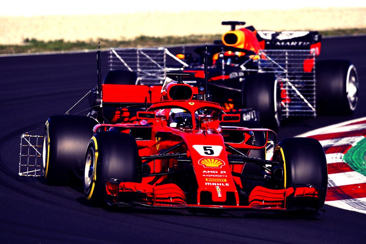 Test Formula 1 - Vettel chiude in testa la mattinata, problemi per la McLaren
