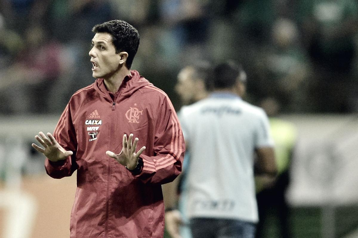 """Após empate no Allianz, Barbieri avalia atuação do Flamengo: """"Fizemos um jogo muito bom"""""""