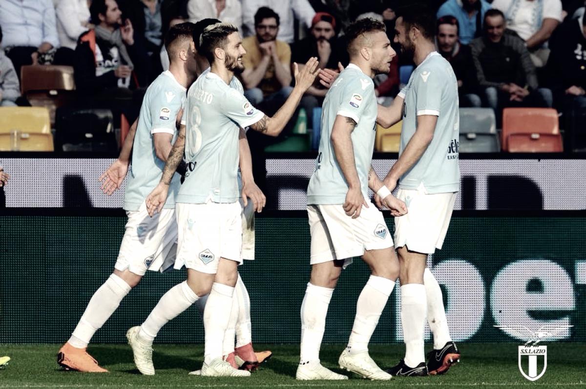 Lazio corsara e vincente ad Udine: è terza in classifica