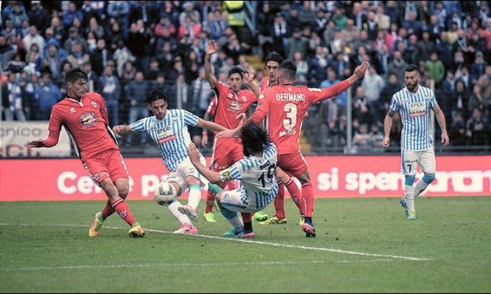 Serie B - Altra festa rimandata per la Spal: 0-0 con la Pro Vercelli