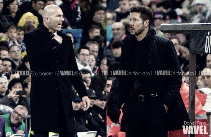 Zidane vs Cholo: en el campo y en el banquillo