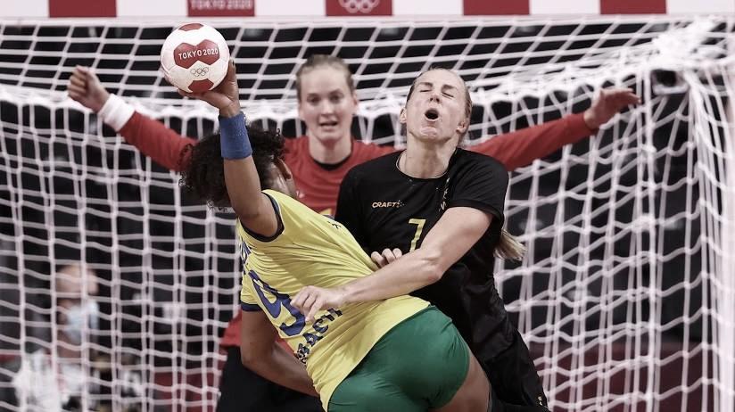 Brasil faz jogo instável e perde para Suécia no handebol feminino
