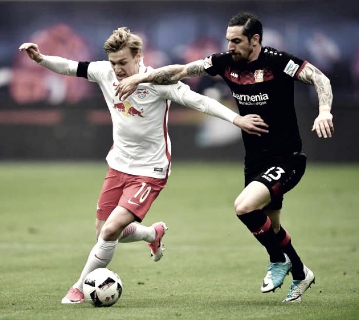 Em partida apertada, RB Leipzig deixa a vitória escapar e empata com o Bayer Leverkusen