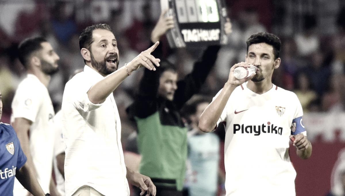 """Mesmo com empate, Pablo Machín elogia atuação do Sevilla: """"Tivemos chances mais claras"""