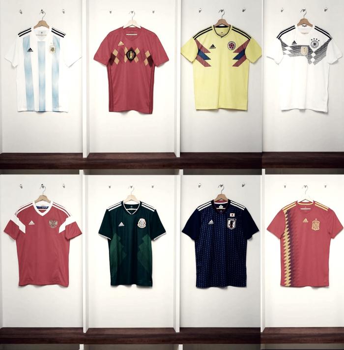 Com pegada retrô, Adidas lança uniformes das seleções para Copa do Mundo