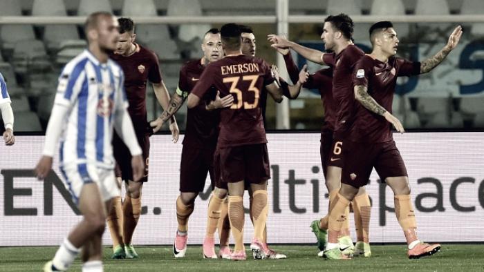 Serie A - La Roma passeggia, il Pescara è in Serie B: 1-4 all'Adriatico
