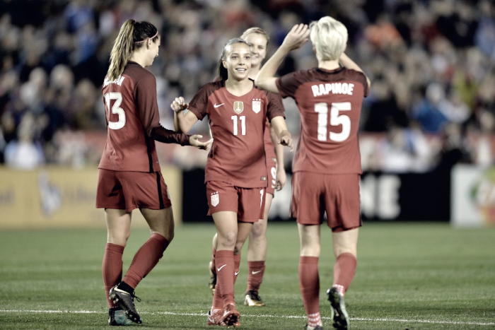 Who shined bright this USWNT friendly?
