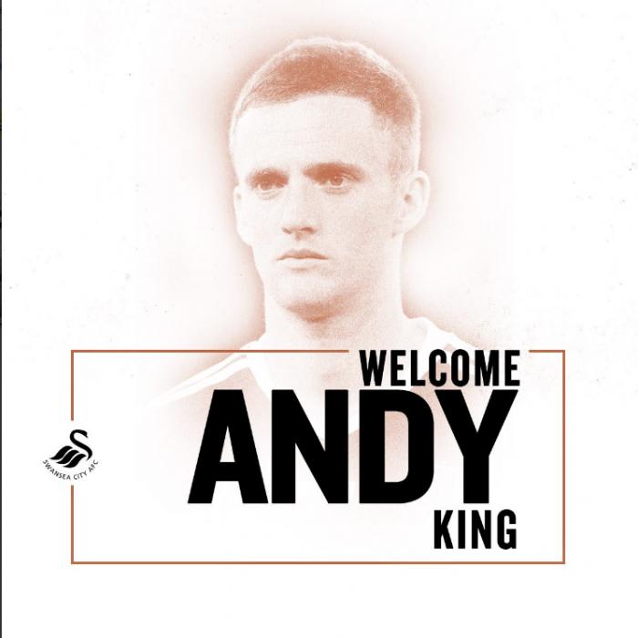Swansea anuncia contratação do meia Andy King junto ao Leicester