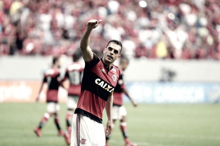 Rhodolfo celebra boa atuação e vibra com primeiro gol pelo Flamengo