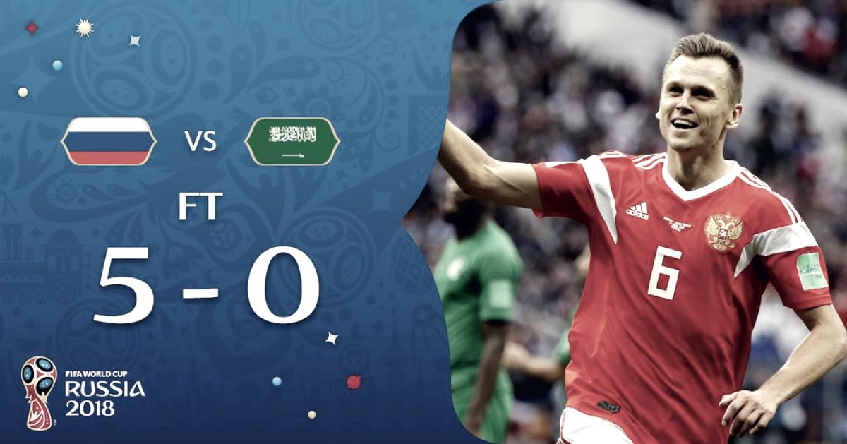 Russia-Arabia Saudita 5-0: le parole dei due tecnici nel post gara