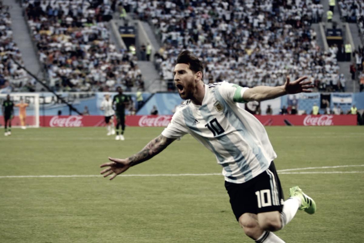 Russia 2018 - L'Argentina batte la Nigeria 2-1 e vola agli ottavi