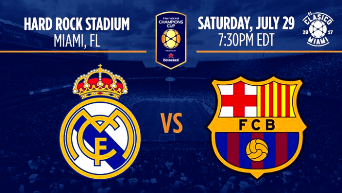 ICC - Luci a Miami, c'è Real Madrid-Barcellona