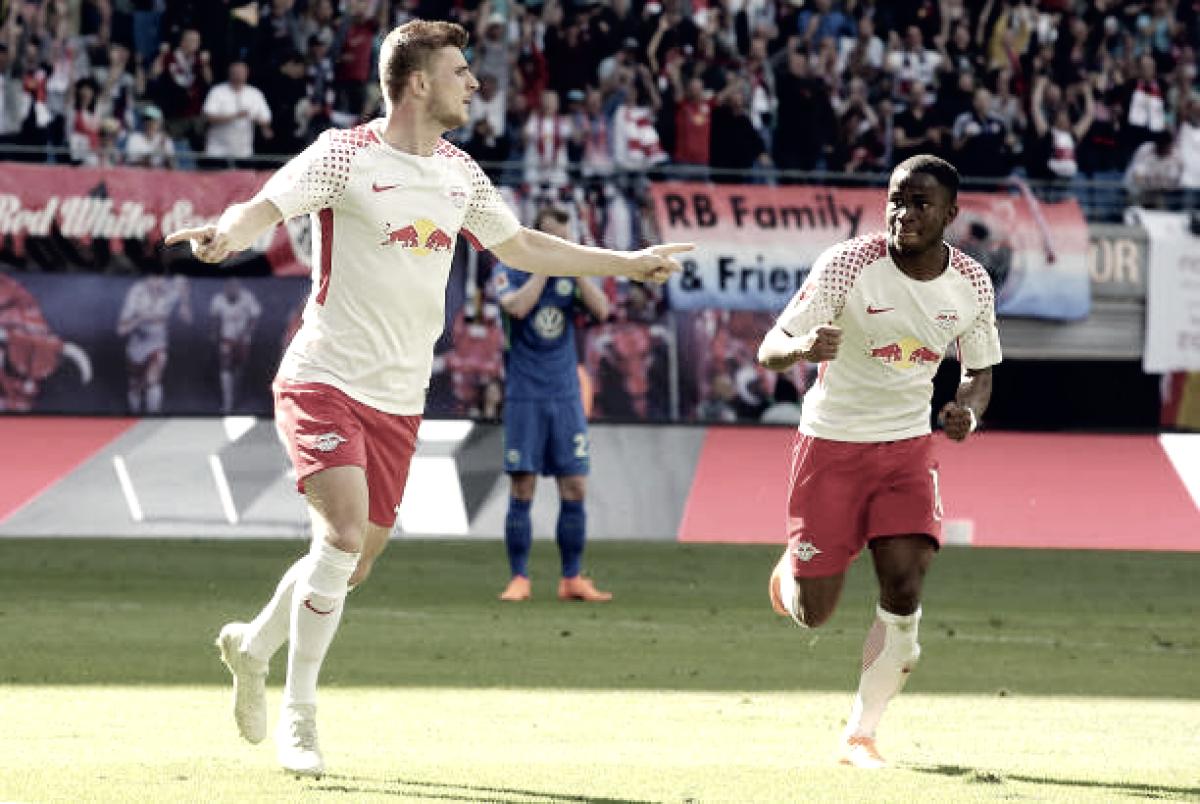 RB Leipzig goleia Wolfsburg com boa atuação de Timo Werner e segue na luta por Champions