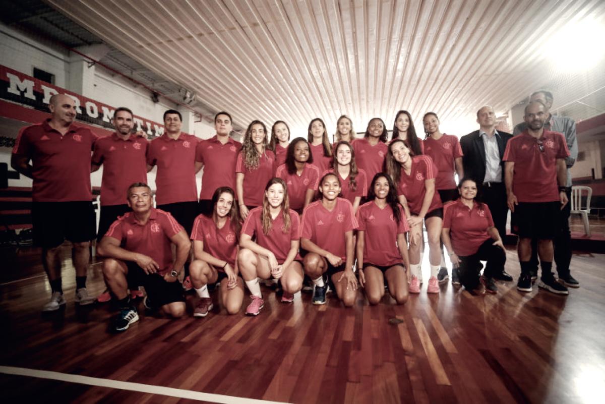 Flamengo apresenta nova equipe de vôlei feminino, que disputará Superliga B
