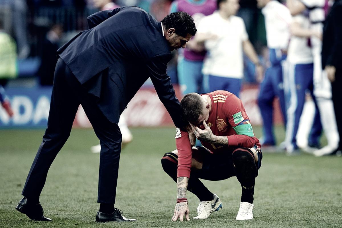 Spagna-Russia 1-1 (3-4 DCR), la delusione di Hierro e la gioia di Cherchesov nel post partita