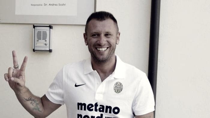 """Cassano: """"Non lascio il calcio, ma non sono stimolato a continuare nel Verona"""""""