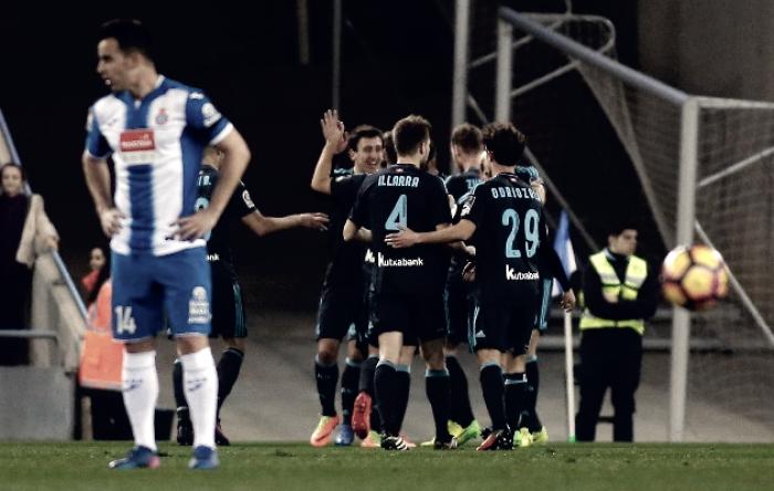 Liga - Vela e Illaramendi abbattono l'Espanyol: 1-2 al Cornellà-Prat e Real Sociedad al quarto posto