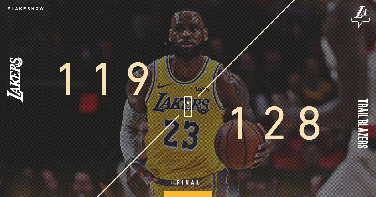 Nba, non basta un super Lebron James: i Lakers perdono a Portland (128-119)