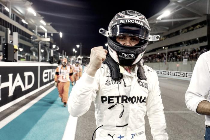 Bottas es el poleman en Abu Dhabi